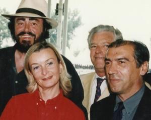 CSIO di Modena con il Maestro Luciano Pavarotti e Adriano Sala