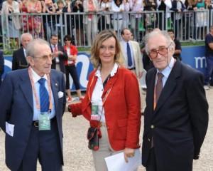 A Piazza di Siena con Piero e Raimondo d'Inzeo