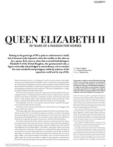 QUEEN ELIZABETH II: 90 YEARS OF A PASSION FOR HORSES