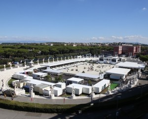 A view of the venue at Stadio dei Marmi