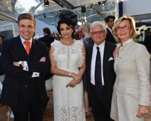 A Chantilly con Juan-Carlos Capelli (Vice-President e Head of International Marketing of Longines) e Aishwarya Rai Bachchan (testimonial Longines)