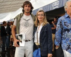 Con il polo-player Ignacio Novillo Astrada